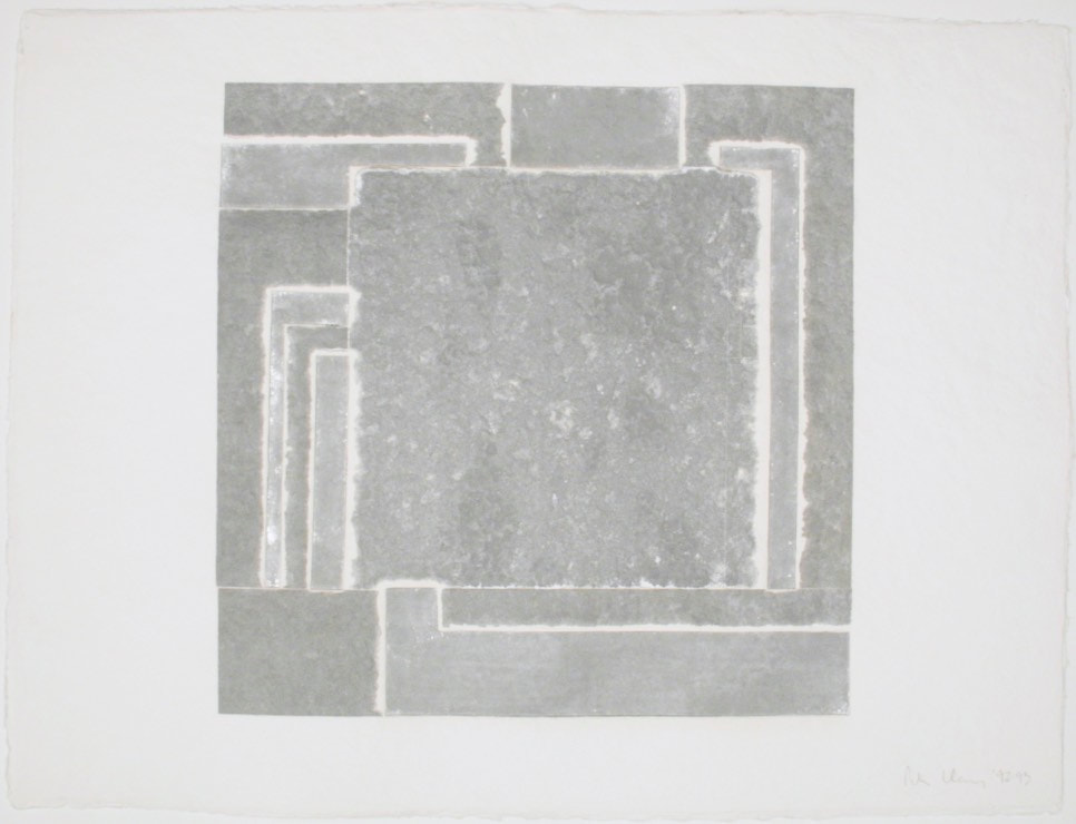 "PH929302 | Peter Halley 1992_monoprint tullis sb handmade 23""x31"""