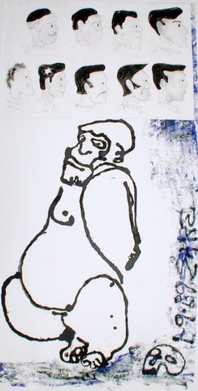 "SM089005 | Sam Messer 1989_monoprint bfk rives 84""x42"""