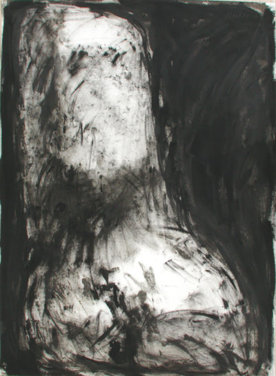 "wt085007 | William Tucker 1985_monotype saunders 60""x44"""